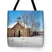 Winter Wisconsin Barn Tote Bag
