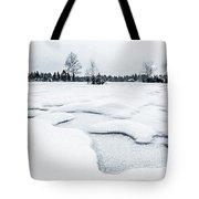 Winter Wonderland Bw Tote Bag