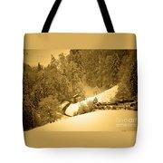 Winter Wonderland In Switzerland - Up The Hills Tote Bag