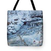 Winter Wonderland Of Minnehaha Falls  Tote Bag