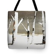 Winter Wood Tote Bag