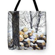 Winter Wood Tote Bag