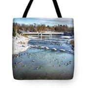 Wintering Geese Tote Bag