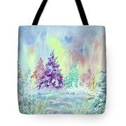 Winter Wonderland Aurora Borealis  Tote Bag