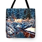 Winter's Bliss Tote Bag