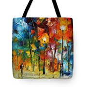 Winter's Chill Wind Tote Bag