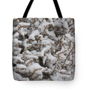 Winter's Contrast Tote Bag