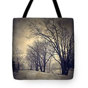Winter's Dark Thoughts Tote Bag