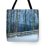 Winters Day - Pisgah Forest Nc Tote Bag