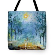 Winter's Fog Tote Bag