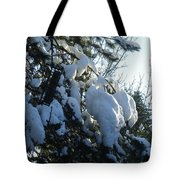 Winter's Light Tote Bag