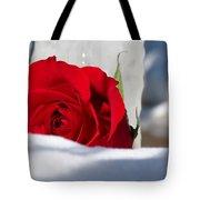 Winters Rose Tote Bag