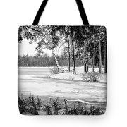 Winter's Tropical Landscape Tote Bag