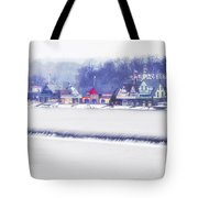 Wintertime At The Fairmount Dam And Boathouse Row Tote Bag