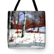 Wintertime Painting Tote Bag