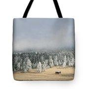 Wintery Mountain Ranch Tote Bag