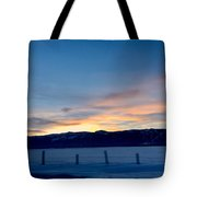 Wintery Sunrises  Tote Bag