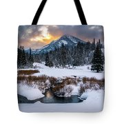 Wintery Wasatch Sunset Tote Bag