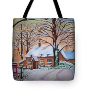 Wintry Evening Tote Bag