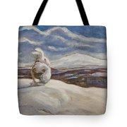 Wintry Landscape Tote Bag