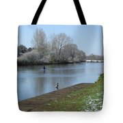 Wintry River At Stapenhill Tote Bag