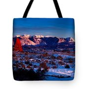 Wintry Sunset Glow  Tote Bag