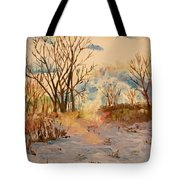 Wintry Walk Tote Bag