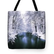 Wintry White Tote Bag