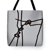 Wire And Snow Tote Bag