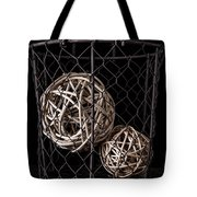 Wire Basket And Balls Still Life Tote Bag