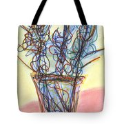 Wire Flowers Tote Bag