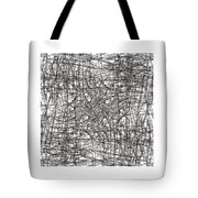 Wired Abstraction Tote Bag