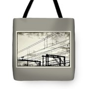 Wires And Coils Silhouette Tote Bag