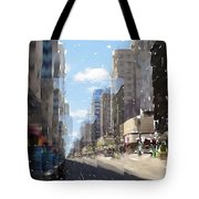 Wisconsin Ave Cubist Tote Bag