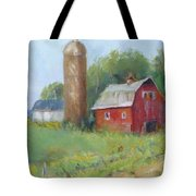 Wisconsin Barn Tote Bag