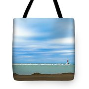 Wisconsin Winter Lakefront Tote Bag by Steven Santamour