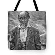 Wisdom - A Year Later Bw Tote Bag
