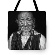 Wisdom Monochrome Tote Bag