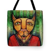 Wise Cat Tote Bag