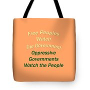 Wise Sayings About Government 5004.02 Tote Bag