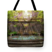 Wisteria Blooming On Trellis At Garden Patio Tote Bag