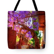Wisteria Canopy In Bisbee Arizona Tote Bag