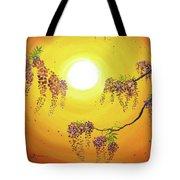 Wisteria In Golden Glow Tote Bag