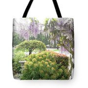 Wisteria In Hailstorm Tote Bag