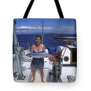 With A Spanish Mackerel Walu Caught Tote Bag