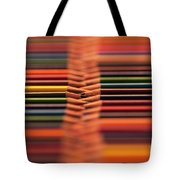 With Design Elements In Rows Tote Bag