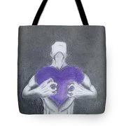 With My Heart In My Hands  Tote Bag