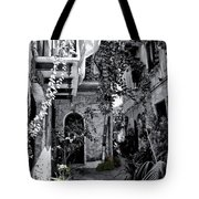 With One Cat In The Yard Tote Bag