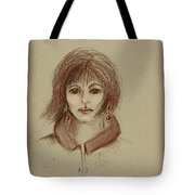 With Short Hair Tote Bag