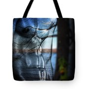With The Back To The Sea  Tote Bag